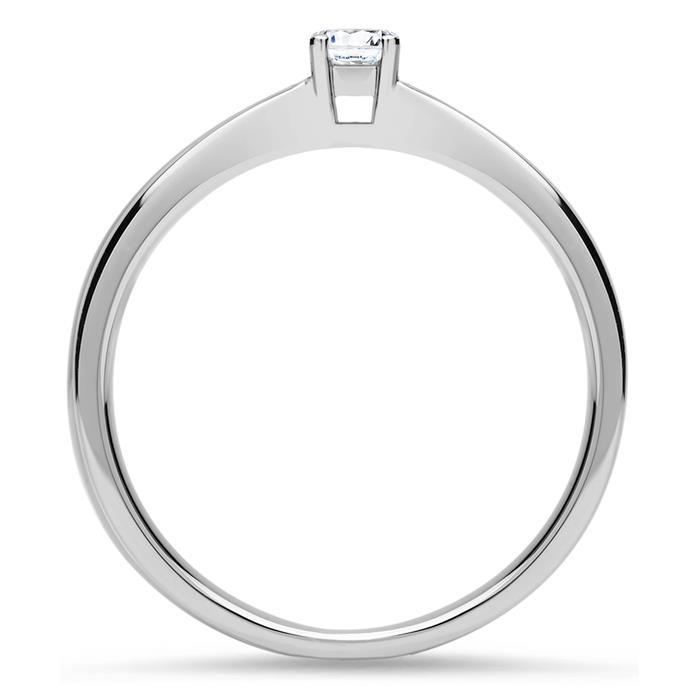 Lab-grown Diamantring 0,10 ct. aus 750er Weißgold