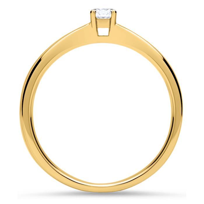Verlobungsring aus 18K Gold mit Brillant 0,10 ct.