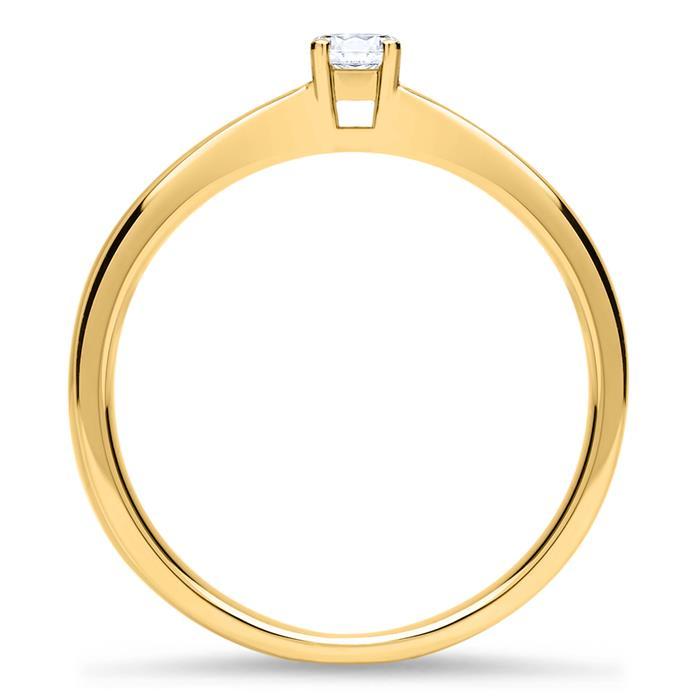 Verlobungsring aus 750er Gold mit Brillant 0,15 ct.