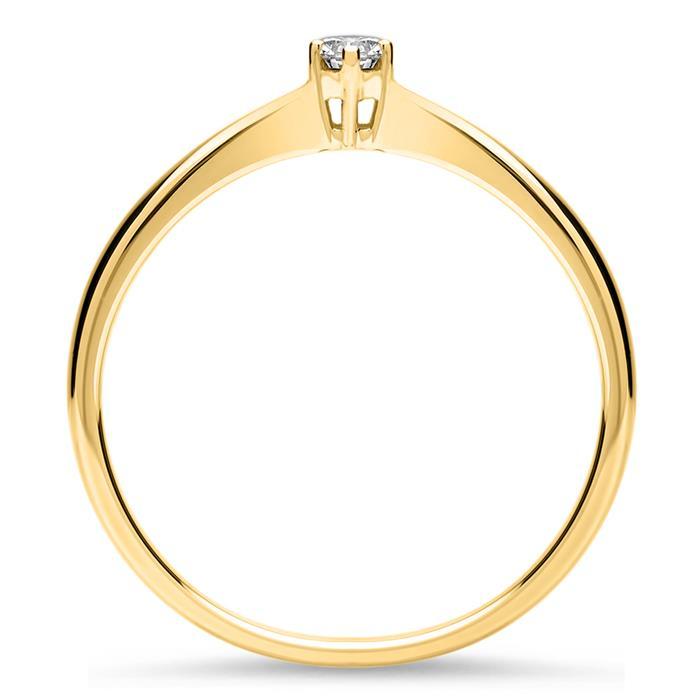 Verlobungsring aus 18K Gold mit Diamant 0,15 ct.