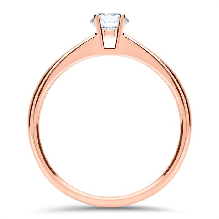 Verlobungsring aus 18K Roségold mit Diamant 0,25 ct.