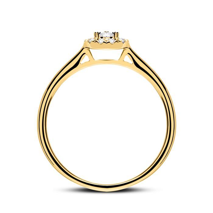 Verlobungsring aus 750er Gold mit Diamanten