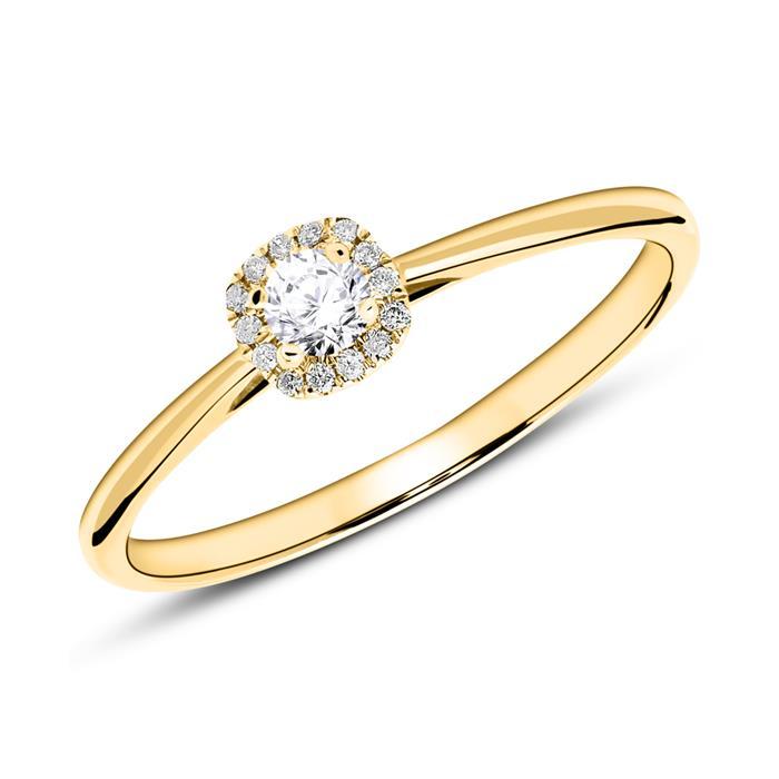 Ring aus 585er Gold mit Brillanten