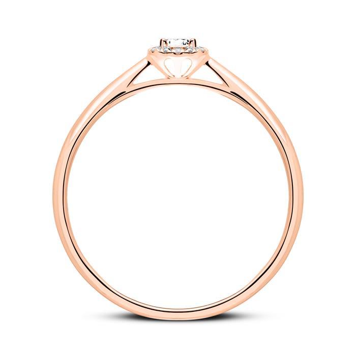 Diamantring aus 585er Roségold