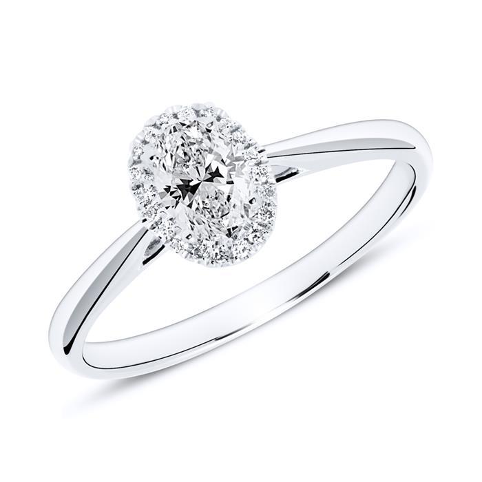 Ring aus 585er Weißgold mit Diamanten