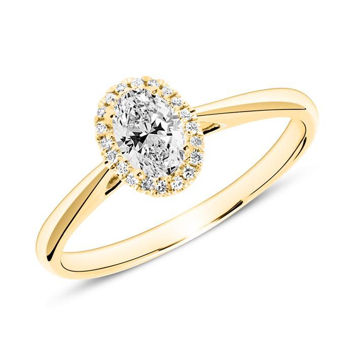 Ring aus 18K Gold mit Diamanten