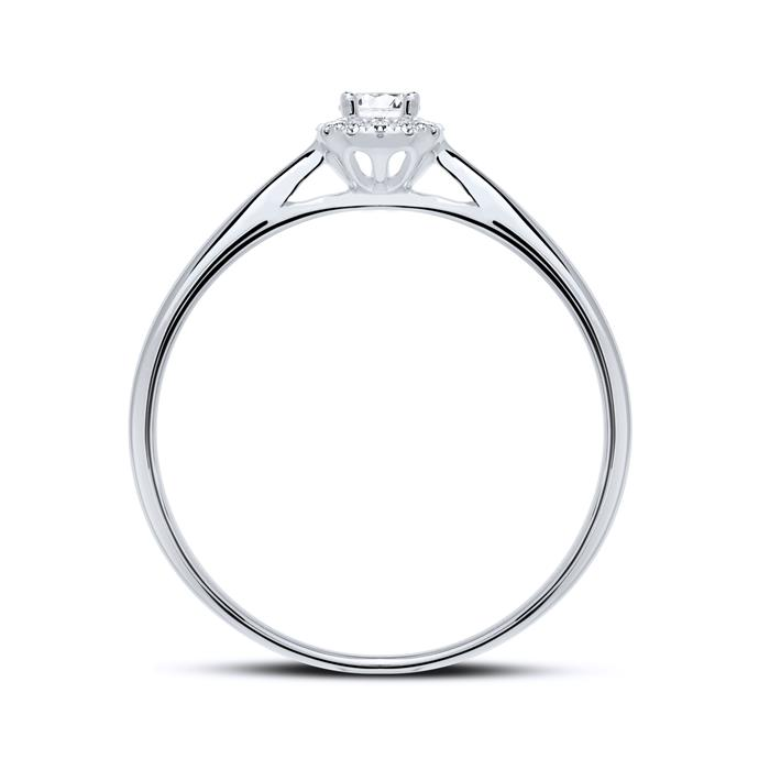 Haloring aus 950er Platin mit Diamanten