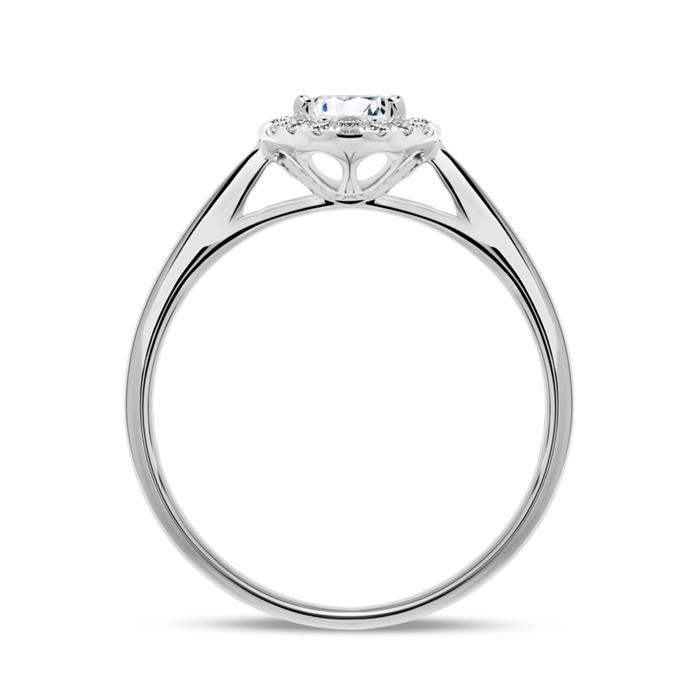 950er Platin Haloring mit Diamanten