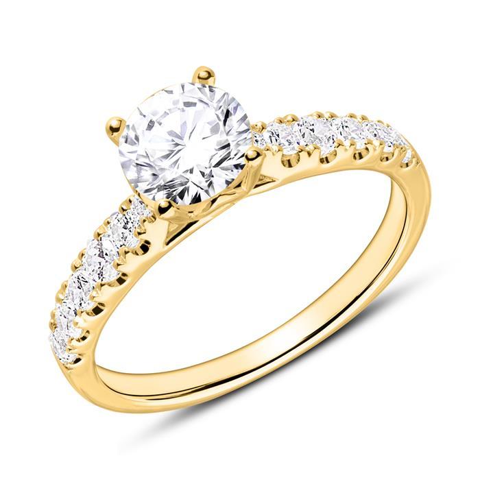 Unique 750 Gold Diamond Engagement Ring Vr0415 18kgsl