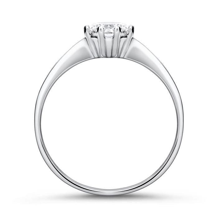 Ring aus 375er Weißgold mit Zirkonia