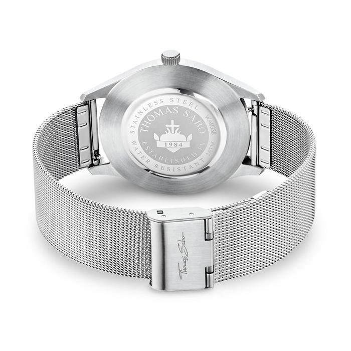 Uhr Code TS silber weiß für Damen und Herren