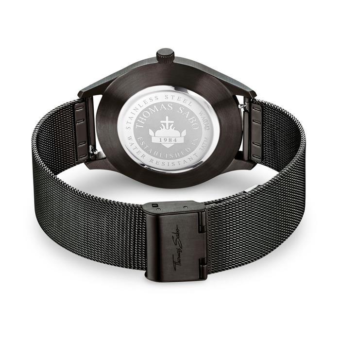 Uhr Code TS schwarz für Damen und Herren