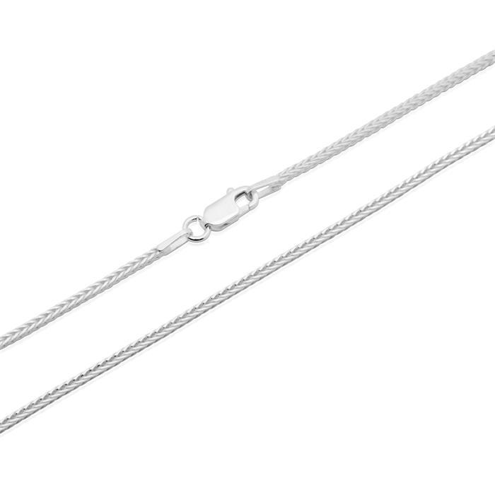 925 Silberkette: Weizenkette Silber 1,5mm