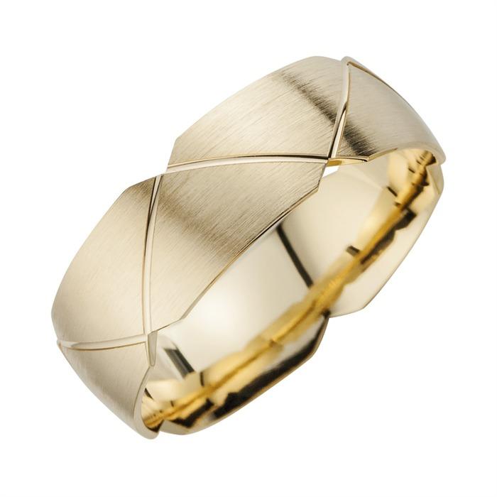 Eheringe Gelbgold mit Diamanten Breite 7 mm