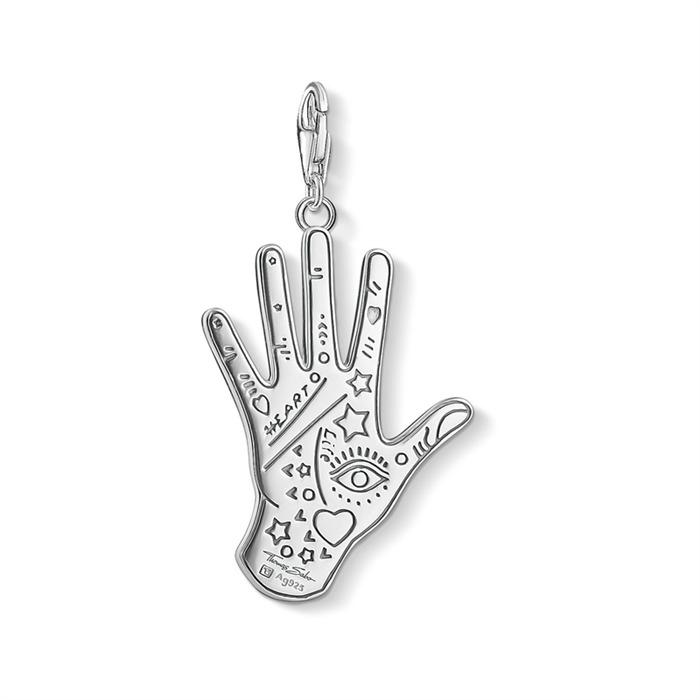 Charm Anhänger Vintage Hand aus Sterlingsilber