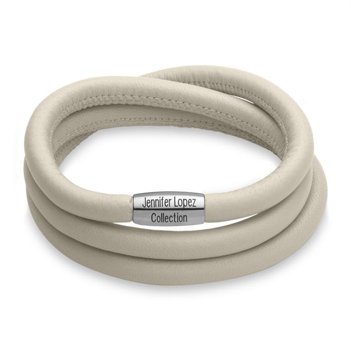 Charm-Armband creme silber