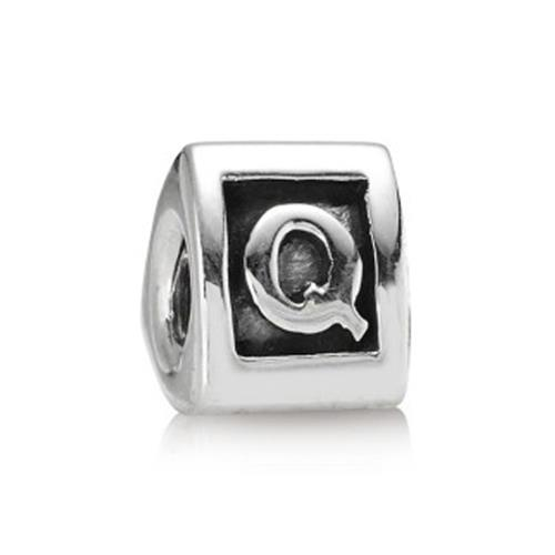 Silber Buchstaben Charm Q