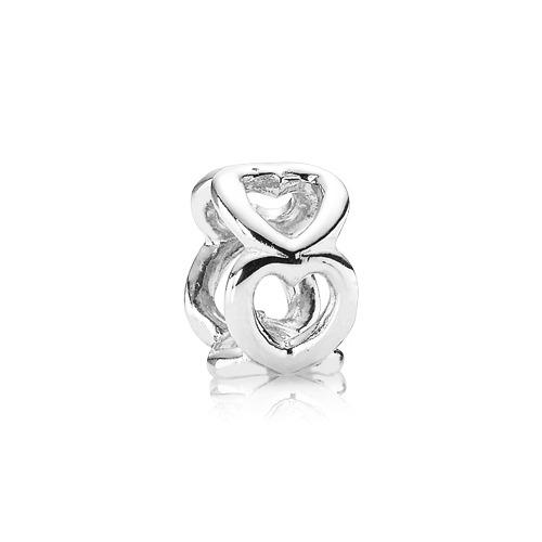 Zwischenelement 925 Silber mit Herzen