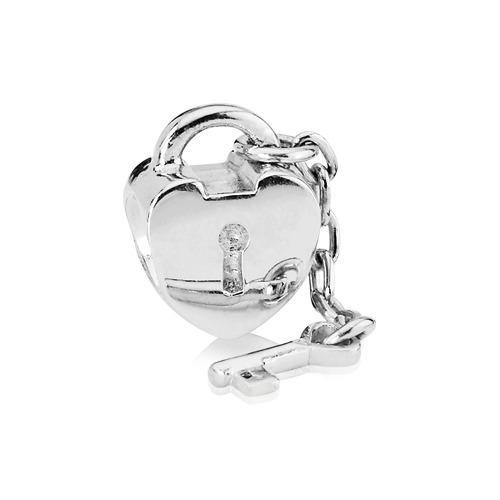 925 Silber Charm Schlüssel und Schloss