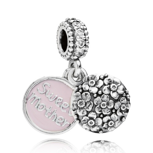 pandora charm anh nger 791285cz sweet mother