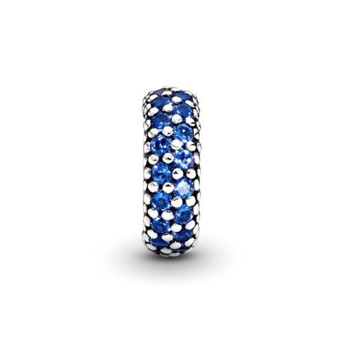 Charm mit dunkelblauen Kristallen