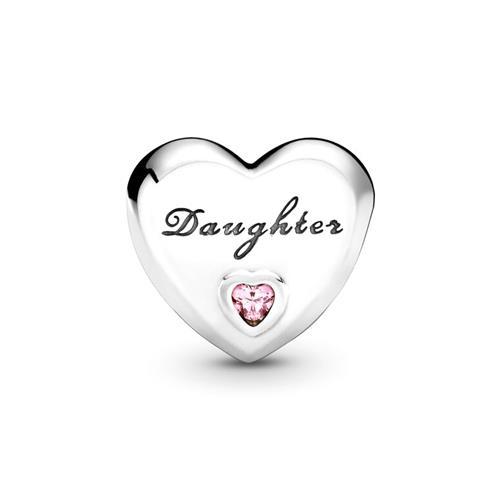 Herz-Charm Daughter 925er Silber