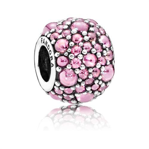 Funkelnder Charm in rosa 925er Silber