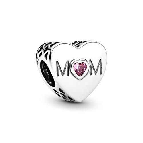Charm Herz 925er Silber Mom