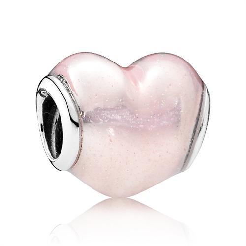 Herzcharm 925er Silber Glitzer