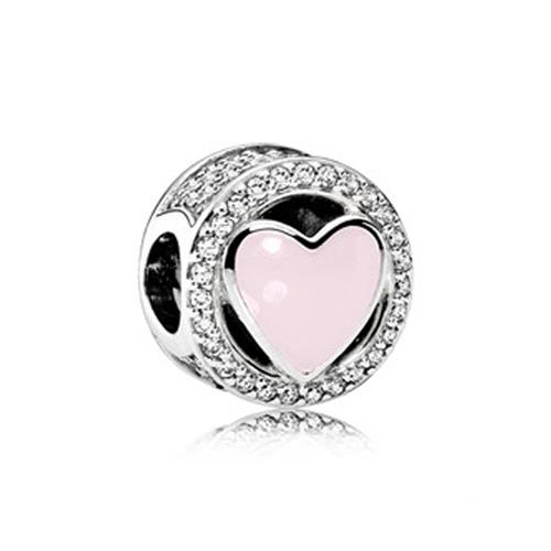 Silber-Charm Herz mit Zirkonia