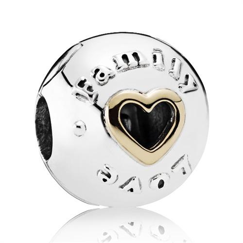 Bead Love Family 925er Silber mit 14K Gold
