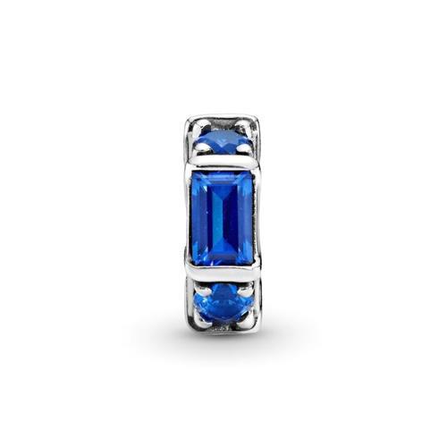 Spacer Ice Sculpture aus 925er Silber Kristall blau