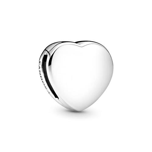 Reflections Engraving Clip Heart for ladies in 925 Silver