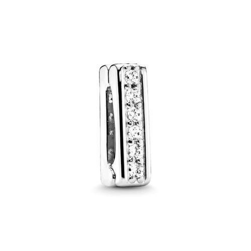 925er Silber Reflexions Clip Sparkle mit Zirkonia