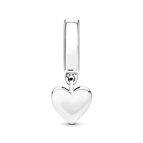 Reflexions Gravur Clip Floating Heart aus 925er Silber