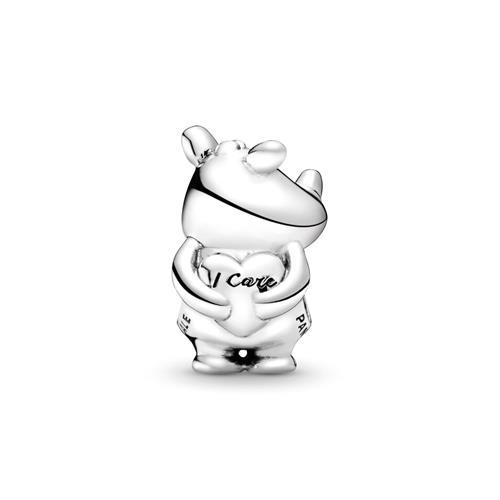 Charm Rino the Rhinoceros aus 925er Silber