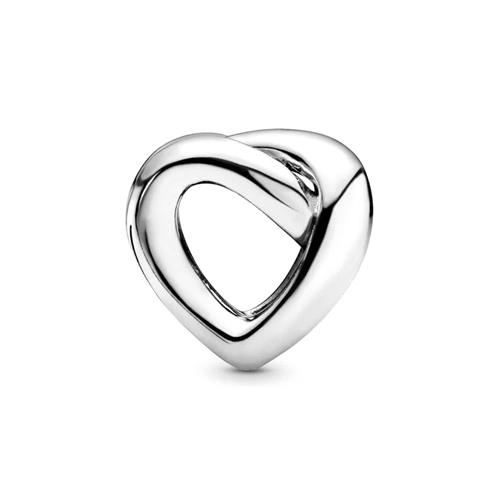 Charm Knotted Heart aus 925er Sterlingsilber