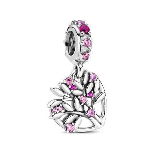 Artikel klicken und genauer betrachten! - Charm-Anhänger Pink Heart Family aus Sterlingsilber | im Online Shop kaufen