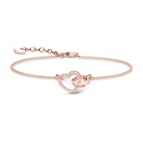 Herzarmband Together aus 925er Silber rosé