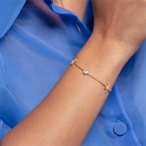 Stern Armband für Damen aus 925er Silber, vergoldet