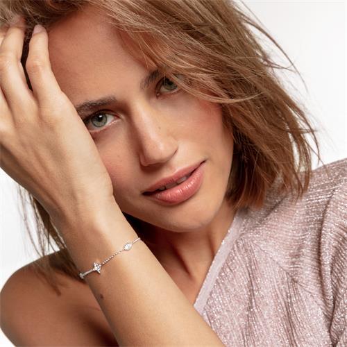 Damen Armband Kleine Glücksbringer aus 925er Silber