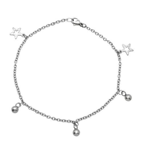 Vorschaubild von Fußkette aus Edelstahl mit Sternen A5004