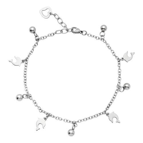 Vorschaubild von Fußkette aus Edelstahl mit Delfinen A5008