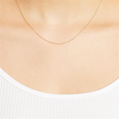 Ankerkette Silber vergoldet 1,2mm