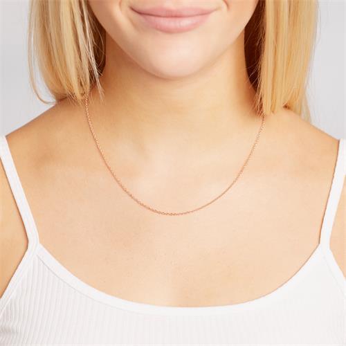 Ankerkette Silber rosévergoldet 1,5mm