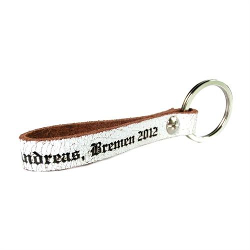 Handlicher Leder Schlüsselanhänger mit Gravur