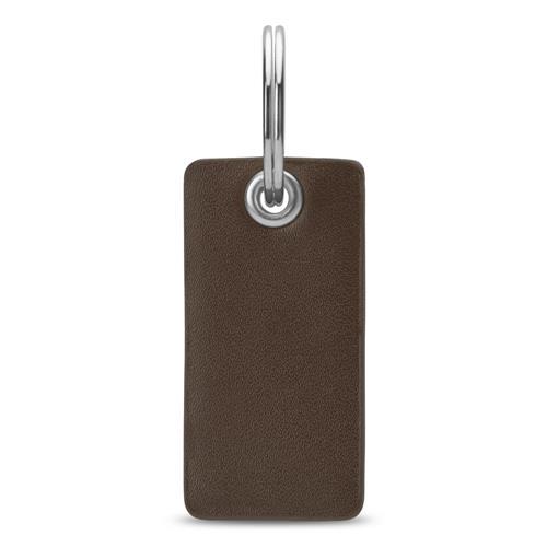 Schlüsselanhänger braunes Echtleder gravierbar