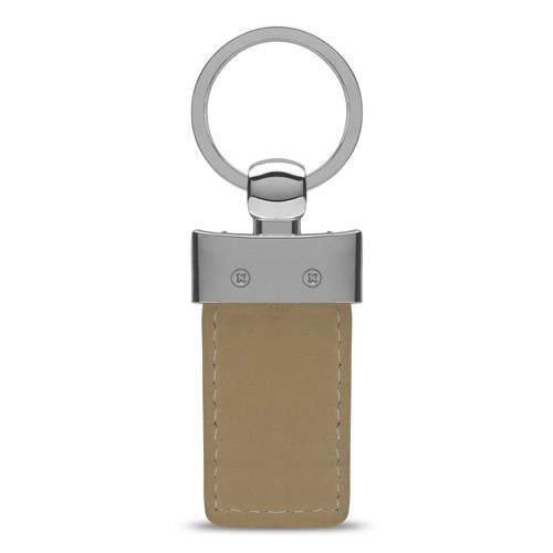 Schlüsselanhänger Echtleder braun gravierbar