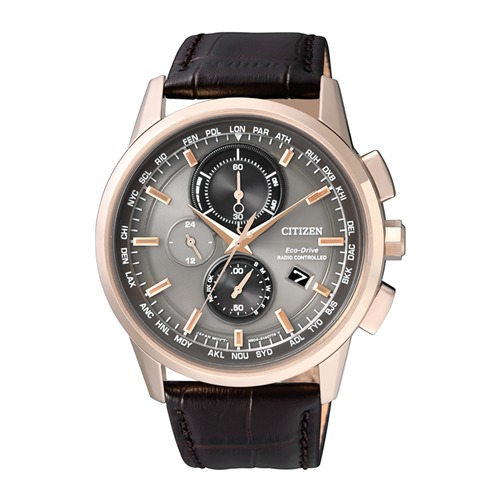 Citizen Elegant schwarz Herren Eco-Drive Uhr AT8113-12H