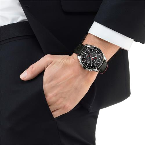 Elegant Racing Funk Uhr schwarz